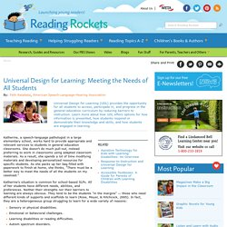 Universal Design for Learning: Meeting the Needs of All Students
