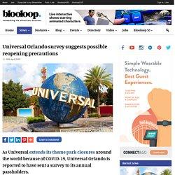 Universal Orlando survey suggests reopening precautions