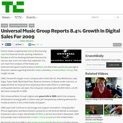 Universal Music Group Reports 8.4% Growth In Digital Sales For 2