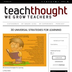 30 Universal Strategies For Learning