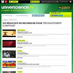 Web TV - réchauffement climatique - universcience.tv