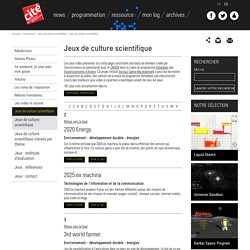 Cité Universcience-Jeux de culture scientifique