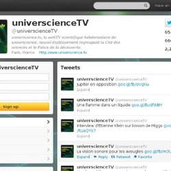 universcienceTV (universcienceTV) on Twitter