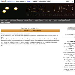 RealUFO's - The latest UFO Videos and News