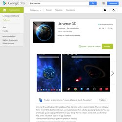 Universe 3D – Applications Android sur GooglePlay