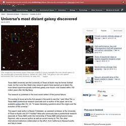 Universe's most distant galaxy discovered