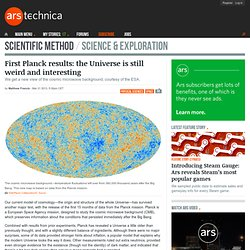 First Planck results: the Universe is still weird and interesting