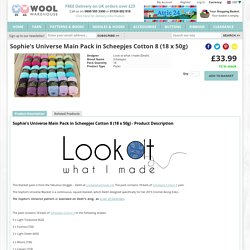Sophie's Universe Main Pack in Scheepjes Cotton 8 (18 x 50g) - Wool Warehouse - Buy Yarn, Wool, Needles & Other Knitting Supplies Online!