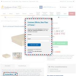 Ecrin universel Grand modèle, Papier kraft recyclé - cookson-clal.com