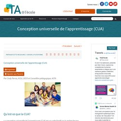Conception universelle de l'apprentissage (CUA)