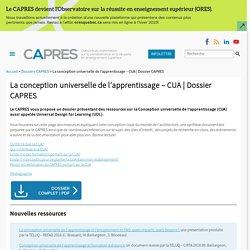 La conception universelle de l'apprentissage - CUA