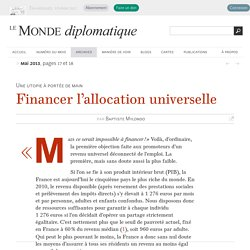 Financer l'allocation universelle, par Baptiste Mylondo