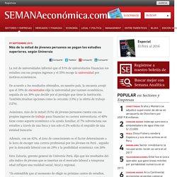 Universia: Más de la mitad de jóvenes peruanos se pagan los estudios superiores