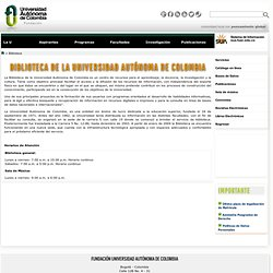 FUAC (Universidad Autónoma de Colombia) Biblioteca