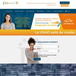 UNAD - Universidad Nacional Abierta y a Distancia Colombia | Carreras, Posgrados, Maestrías, Diplomados, Educación virtual, e-learning, Colombia.