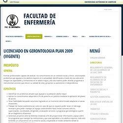 FACULTAD de ENFERMERÍA LIC GERONTOLOGIA