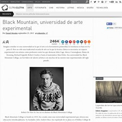 Black Mountain, universidad de arte experimental
