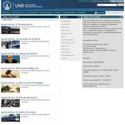 Universidad Nacional de Rosario (UNR) - Argentina- Radio Universidad - Archivo Público