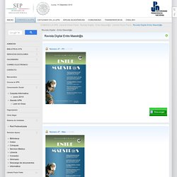 Revista Digital - Entre Maestr@s - Universidad Pedagógica Nacional - México