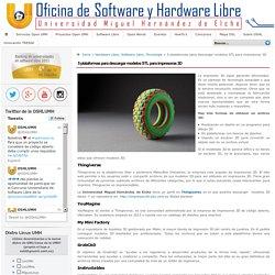 Oficina de Software y Hardware Libre Universidad Miguel Hernández UMH » 5 plataformas para descargar modelos STL para impresoras 3D