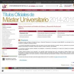 Máster Universitario en Estudio...