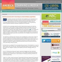 Fuerte presencia del e-learning en universidades argentinas