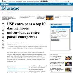 USP entra para o top 10 das melhores universidades entre países emergentes
