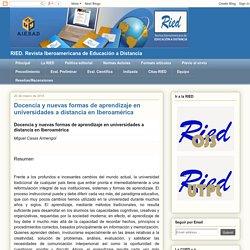 RIED: Docencia y nuevas formas de aprendizaje en universidades a distancia en...