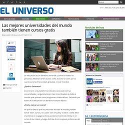 Las mejores universidades del mundo también tienen cursos gratis - Negocios - El Universo