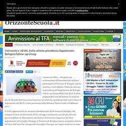 Università e AFAM, Italia ottiene presidenza Segretariato Bologna Follow-up Group - Orizzonte Scuola