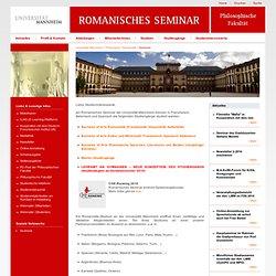 Universitaet Mannheim - Romanistik - Startseite