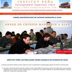 cours universitaire annuel en Chine Institut PEÑA