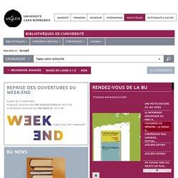 Bibliothèque universitaire - Université de Caen Normandie - Autoformation