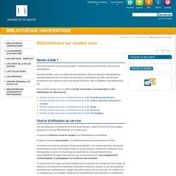 Université de Nantes - Bibliothèque universitaire - Bibliothécaire sur rendez-vous