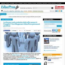 La licence universitaire doit-elle mener à l'emploi ? Les blogueurs EducPros prennent position