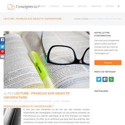 Français sur Objectif Universitaire - T