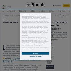 «Paroles de lecteurs» - Recherche universitaire: «un exemple lamentable de manipulation»