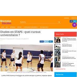 Etudes en STAPS : quel cursus universitaire ?