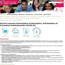 Service Commun Universitaire d'Information, d'Orientation et d'Insertion Professionnelle (SCUIO-IP)