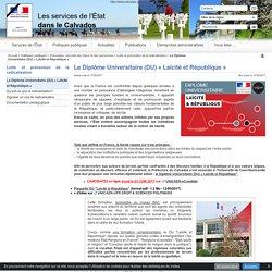 Le Diplôme Universitaire (DU) « Laïcité et République » - Les services de l'Etat dans le Calvados