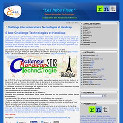 Challenge inter-universitaire Technologies et Handicap