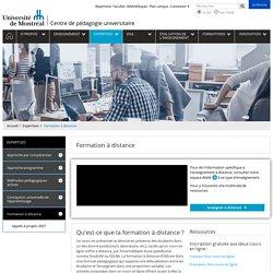 Formation à distance - Centre de pédagogie universitaire - Université de Montréal