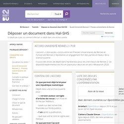 Presses universitaires de Rennes et dépôt dans HAL Rennes 2