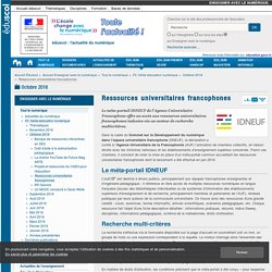 Ressources universitaires francophones — Enseigner avec le numérique