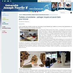AB 2 - Fablabs universitaires : partager moyens et savoir-faire pour innover