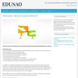 """cours universitaires gratuits sur le 1er MOOC en Europe » Philosophie : """"Qu'est-ce que la confiance?"""""""