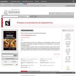 Hédonismes - Presses universitaires du Septentrion