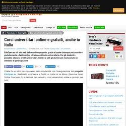 Corsi universitari online e gratuiti, anche in Italia