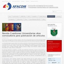 Revista Cuestiones Universitarias abre convocatoria para publicación de artículos