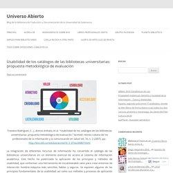 Usabilidad de los catálogos de las bibliotecas universitarias: propuesta metodológica de evaluación